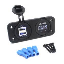 Digital Cl Meter Blue motorcycle auto dual usb charger adapter led indicator