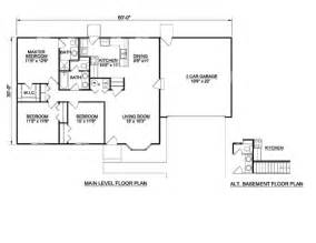 House plan 3 beds 2 baths 1200 sq ft plan 116 290 main floor plan