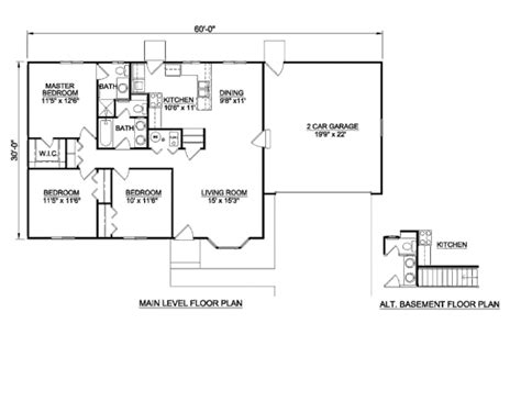 1200 sq ft house plan ranch style house plan 3 beds 2 baths 1200 sq ft plan 116 290