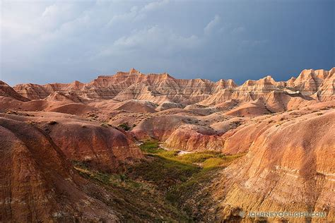 after a the badlands national park in south