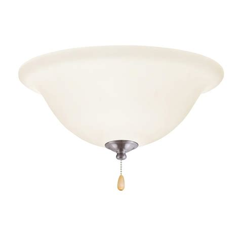 emerson ceiling fan light kit emerson opal matte led array brushed steel ceiling fan