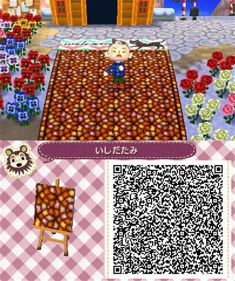 brick pattern new leaf multicolored brick pattern floor path acnl qrs