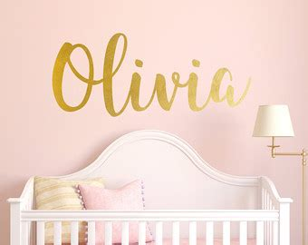 baby name wall decal etsy