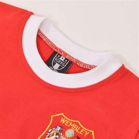 Mu Retro Wembly manchester united retro voetbalshirt fa cup finale 1963 sportus nl