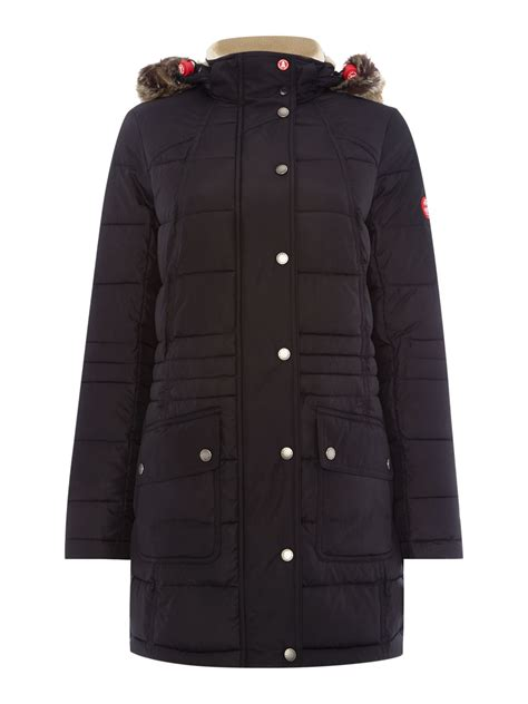 Barbour Quilted Coat by Barbour Landry Longline Parka Quilted Coat In Black Lyst