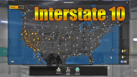 map usa truck simulator ats interstate 10 map american truck simulator mods