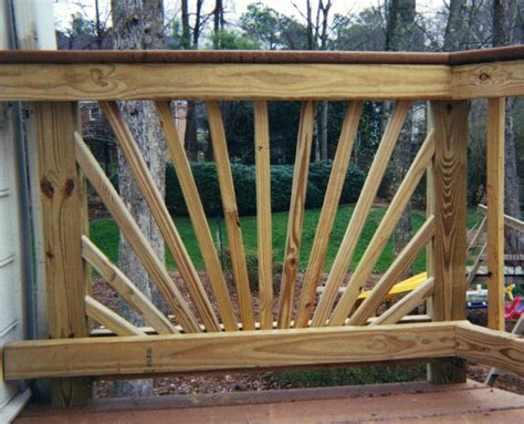Decorative Deck Balusters Decorative Starburst Handrail Design Affordable Fence