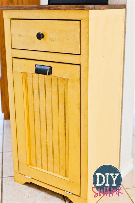 diy trash can cabinet diy tilt out trash bin diy swank
