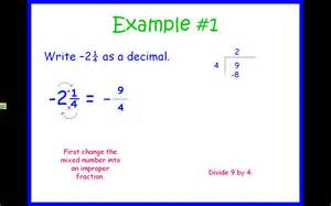 rational numbers converting fractions and decimals