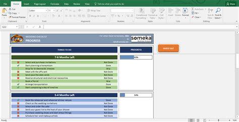 Wedding Checklist On Excel by Wedding Checklist Excel Template For Wedding Planning