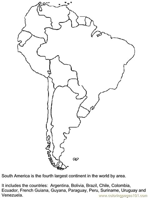 coloring page map of chile map of north and south america for kids coloring home