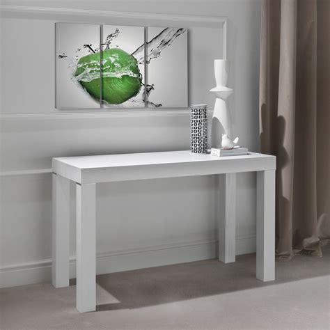tavolo mensola allungabile tavolo consolle allungabile con gambe in legno massello woolf