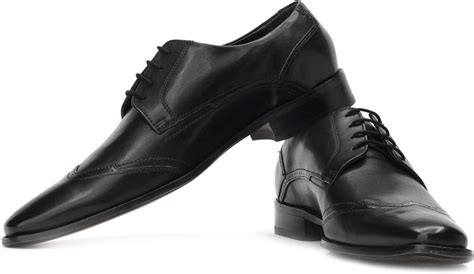 ruosh genuine leather semi formal shoes buy black color