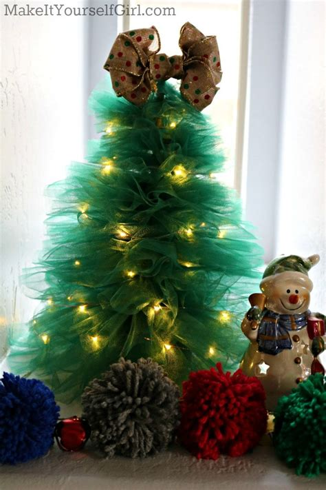 diy tulle christmas tree make it yourself girl