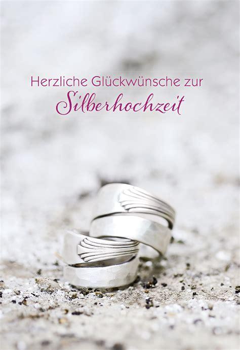 Karten Zur Silberhochzeit by Gl 252 Ckwunschkarte Herzliche Gl 252 Ckw 252 Nsche Zur Silberhochzeit