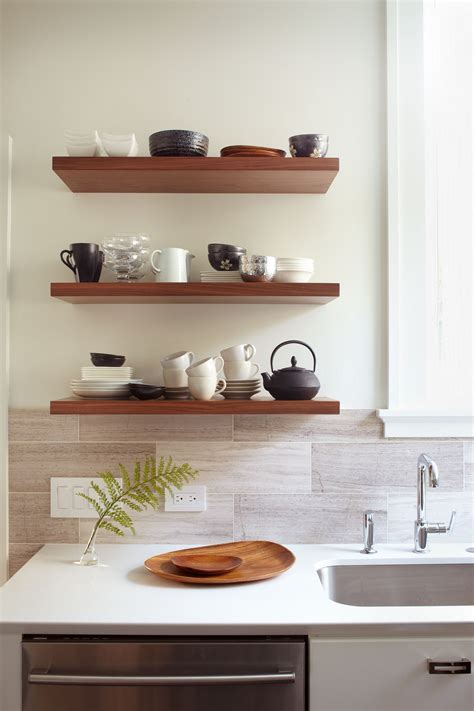 kitchen wall shelving diy kitchen wall shelves ideas