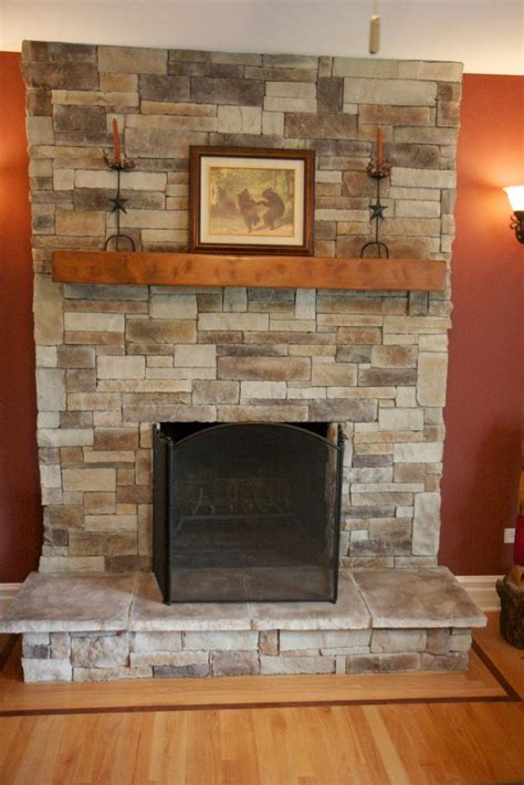 ledge fireplace veneer applied directly