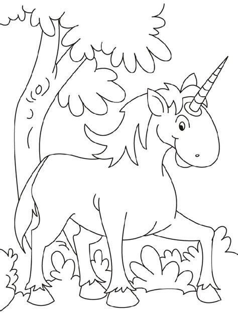 unicorn coloring pages simple simple unicorn outline coloring pages