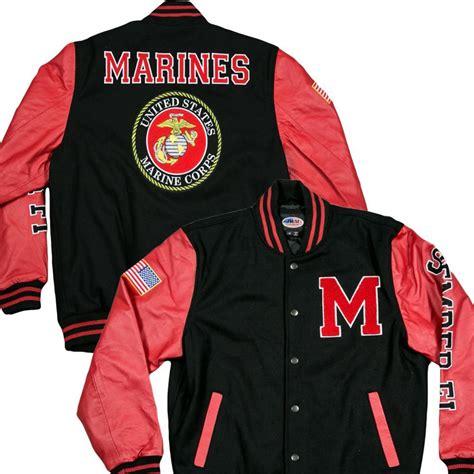 Jaket Varsity Giord Navy Leather varsity us marines jacket marines republic