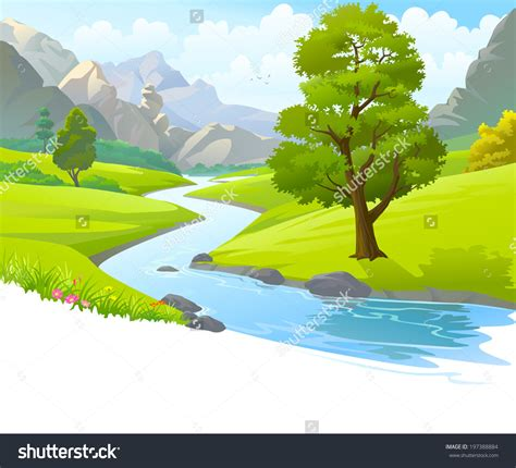 drawing of drawing of hill scenery river clipart beautiful scenery pencil and in color river
