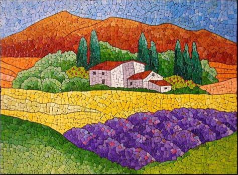 Mosaic Pattern Landscape | mosaic landscape mosaic pinterest