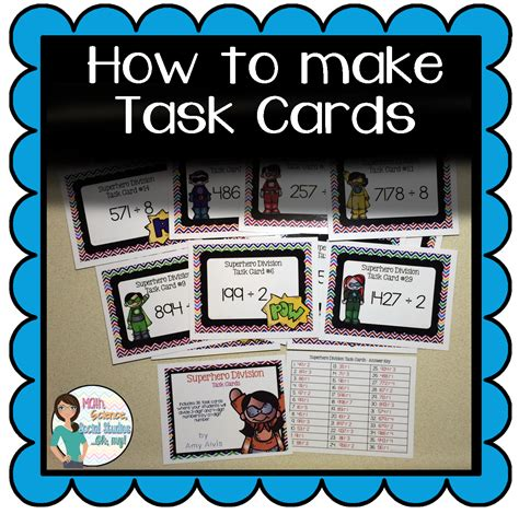 task cards math science social studies oh my how to make
