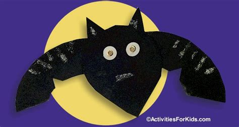 Bat Paper Plate Craft - paper plate bat easy craft