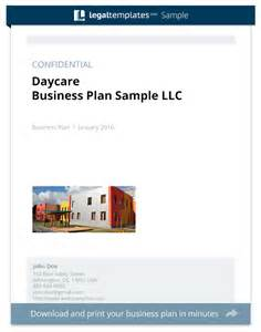 Home Daycare Business Plan Template by Daycare Business Plan Sle Templates
