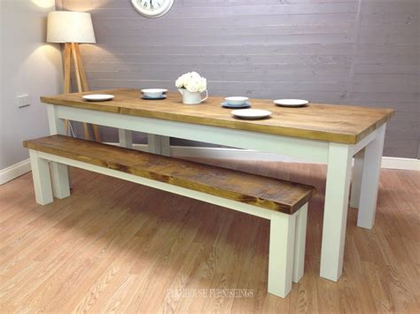 pine dining bench solid pine 8ft dining table and benches farmhouse