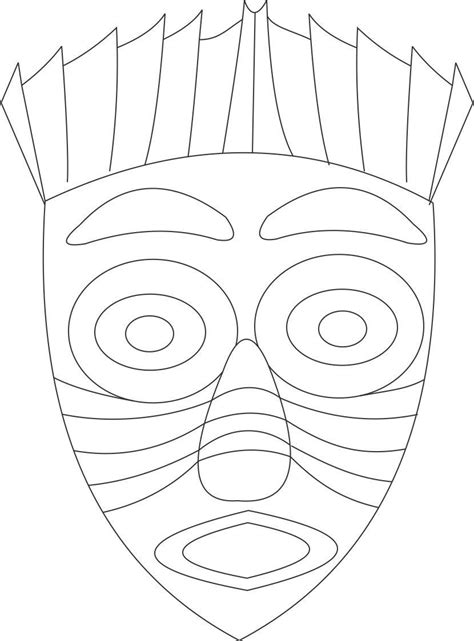 African Mask Coloring Page Coloring Home Masks Coloring Pages