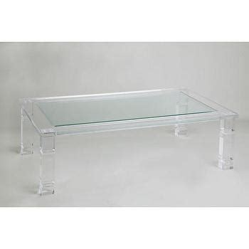 acrylic and glass coffee table ghost table