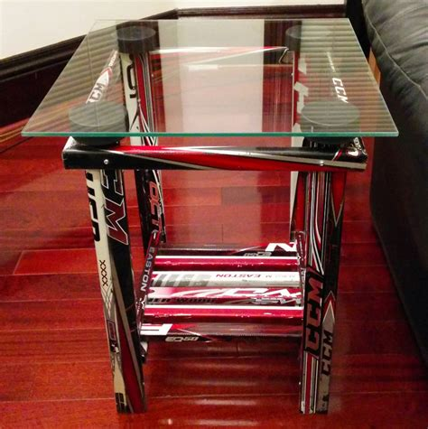 table and stick end table hockey stick builds