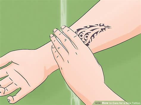 care for new tattoo how to care for a new 12 steps with pictures