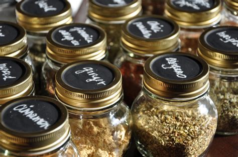 Spice Containers Bulk Chalkboard Labeled Spice Jars Shuffling Freckles