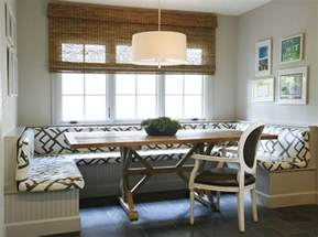 built in banquette contemporary dining room