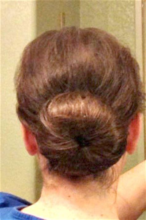 easy sock bun for my thin hair