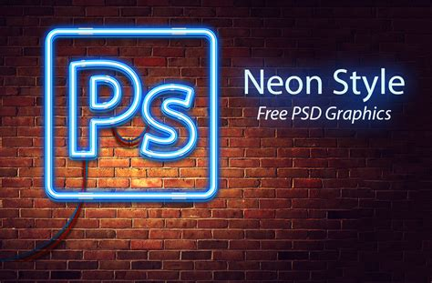 neon style free psd graphics download download psd
