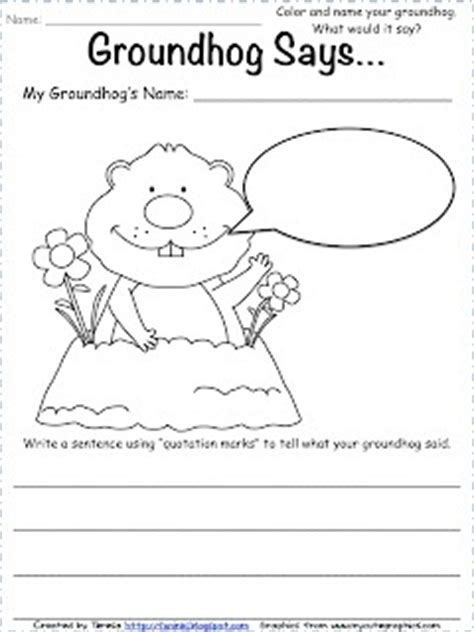 groundhog day writer groundhog freebie groundhog day books and activities