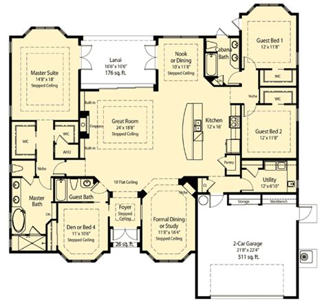 open great room floor plans plan 33074zr spacious open floor plan open floor sitting area and house