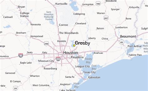map of crosby texas crosby weather station record historical weather for crosby texas