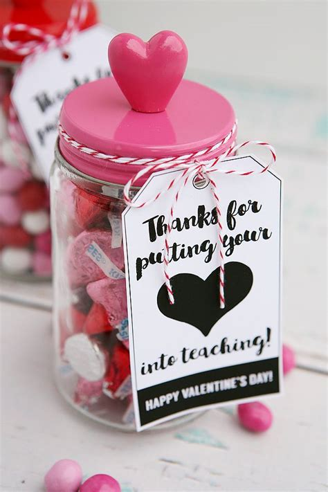 valentines gift for teachers thanks for putting your into teaching