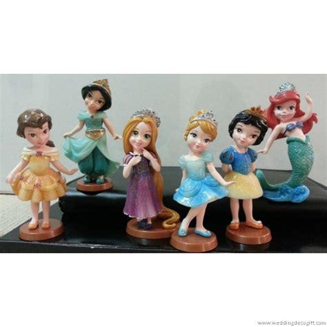 Figure 4 Pcs Princess Frozen Snow White Cake Topper Mainan Anak cinderella snow white rapunzel princess princess ariel