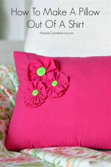 What Is A Pillow Made Out Of by How To Make A Shirt Pillow With Added Details Newton
