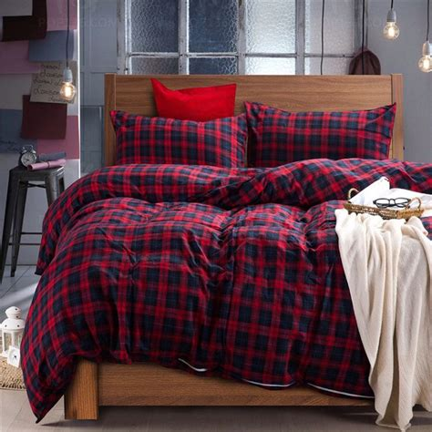 king size flannel comforter christmas red green blue plaid winter flannel duvet