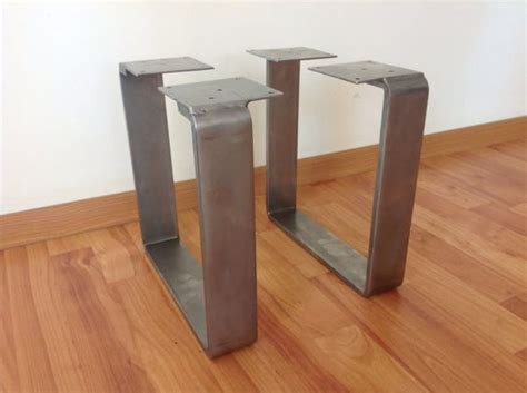 flat iron table legs 28 quot x 20 quot flat steel table leg height 26 quot to 32 quot set 2