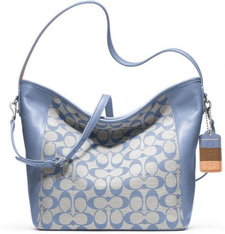 Coach Legacy Signature Cotton Shoulder Bag by Coach Legacy Weekend Printed Signature Shoulder Bag In