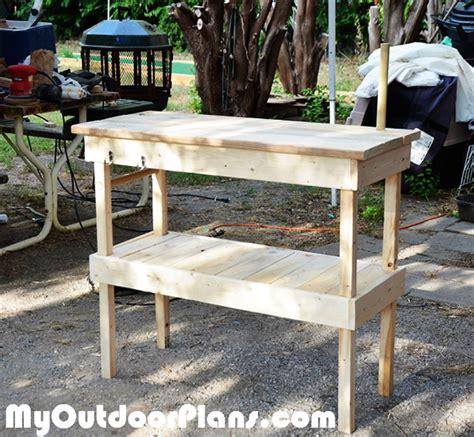 building a bbq bench diy wood bbq table myoutdoorplans free woodworking