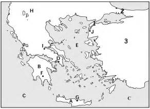 Historical Outline Map 7 Ancient Greece Answers by Pictures Ancient Greece Map Worksheet Dropwin