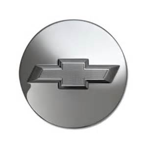 Custom Truck Accessory Center Anchorage 2014 Silverado 1500 Center Cap Brushed Aluminum Logo