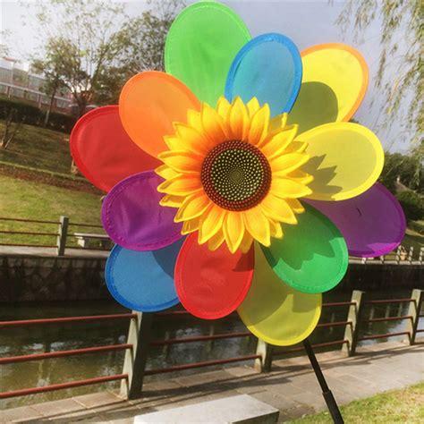 Sunflower Garden Decor Sunflower Windmill Colourful Wind Spinner Home Garden Decor Yard In Garden Ornaments